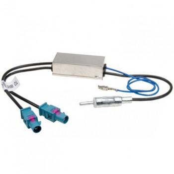 Антенный переходник ISO с питанием двойной (с усилителем) INTRO ISO ANT-3 AMP